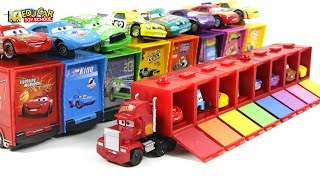 Disney PIXAR Cars Lightning McQueen Mack Truck micro car carrier play for kids car toys