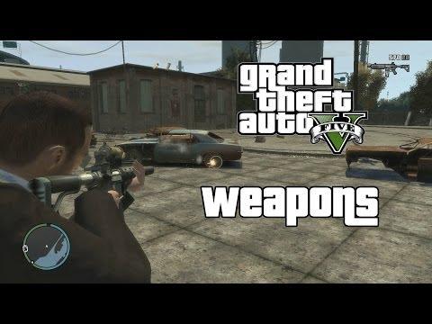 GTA 4 - Weapons from GTA 5 Mod