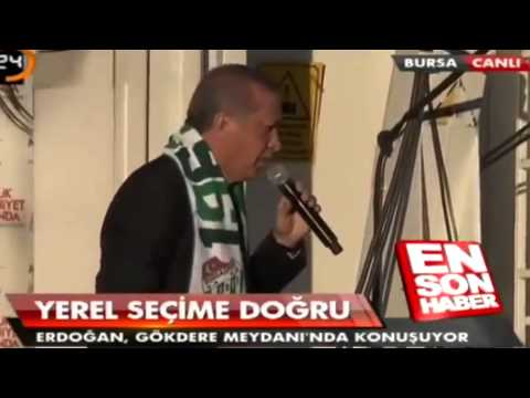 Ak Parti Bursa Mitingi - Twitter - Recep Tayyip Erdoğan