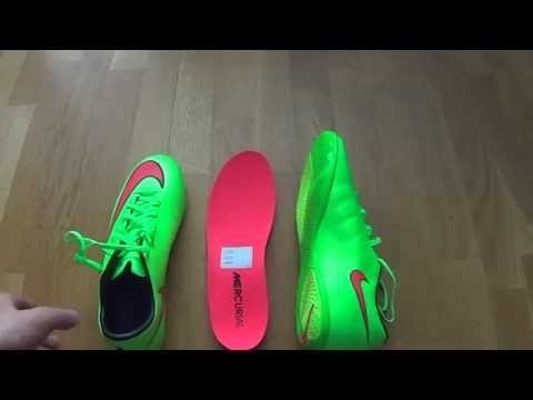 New Cristiano Ronaldo boot:Nike Mercurial Victory V IC Electric Green/Hyper Punch unboxing by FSR