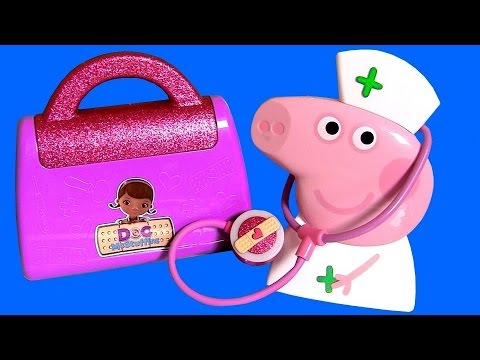 Doc McStuffins & Nurse Peppa Pig Medical Case Maletín de Enfermera Doctora Juguetes by FunToys