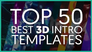 TOP 50 BEST 3D INTRO TEMPLATES (Cinema 4D)