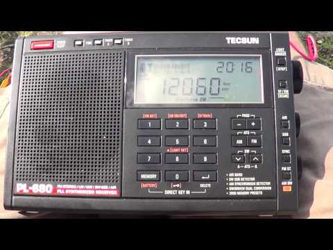 Radio Algerienne  french news via France Tecsun PL 680 DXpedition