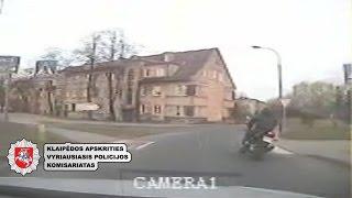 Klaipėdos kelių policija vaikėsi įžūlų motociklininką