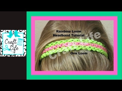 Rainbow Loom Headband ~ Full Triple Single Bracelet One Loom Tutorial