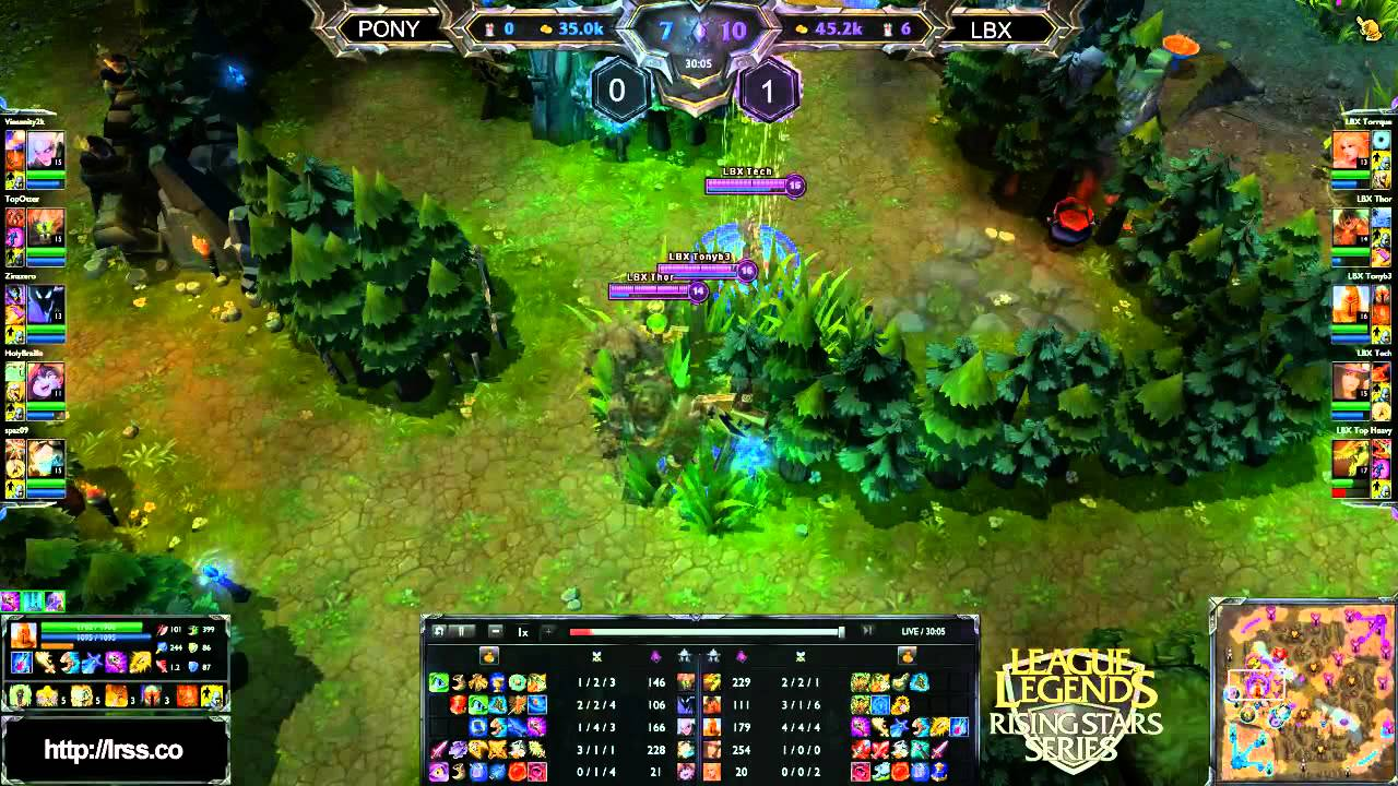 LRSS] S2 Tournament: LBX vs. PONY Game 2 Pt. 2 - YouTube