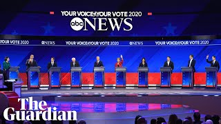 US election 2020: highlights from the third Democratic presidential debate