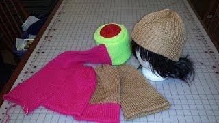 Addi machine-knit hats