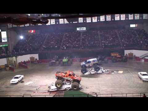 AMP Monster Truck Thunder Slam Highlights - Jonesboro, AR 2009