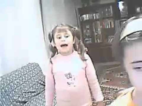 young sister slaps older sister (original with subtitles)