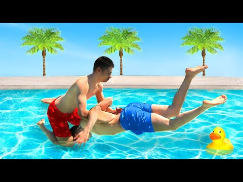 WWE MOVES IN THE POOL