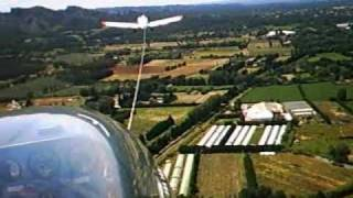 sailplane lak 12 flight over the alps