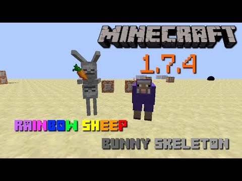 Review Minecraft 1.7.4 - แกะสายรุ้ง Bunny Skeleton (NO MOD)