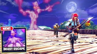 FORTNITE *NEW* ESCAPE THE INVISIBLE BEAST GAMEMODE!