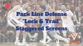 "Virginia Cavaliers - Pack Line Defense - ""Lock & Trail Staggered Screens"""