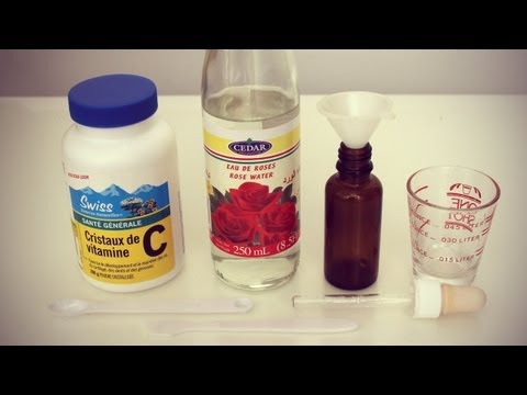 DIY Vitamin C Serum - prevent wrinkles + reduce skin discoloration