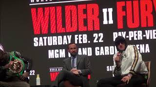 Wilder -  Fury 2 Final Press Conference