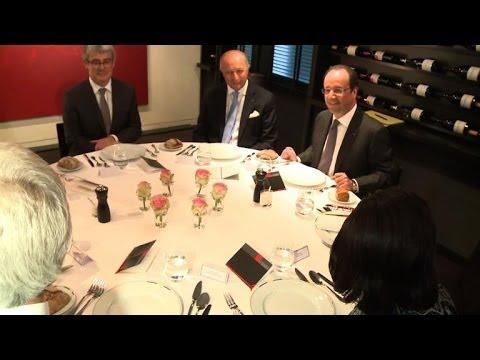 Hollande dîne avec Obama puis soupe avec Poutine