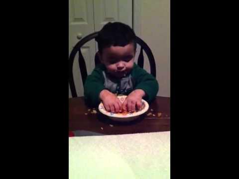 Neanderthal baby eating