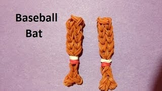 How to Make a Baseball Bat Charm on the Rainbow Loom - Original Design