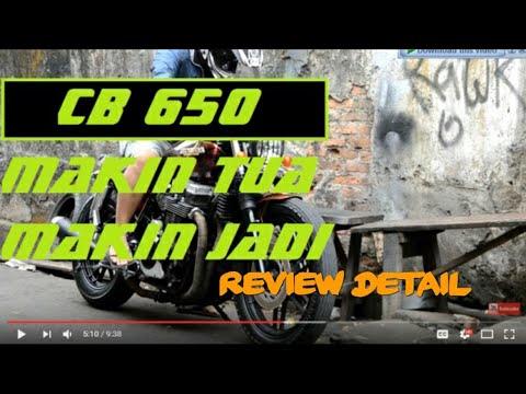 [MOTOVLOG] HONDA CB 650 FOUR NIGHTHAWK CUSTOM BRATSTYLE REVIEW, INDONESIA