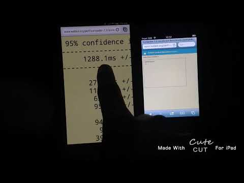S4 vs iPhone 4 Sunspider Benchmark