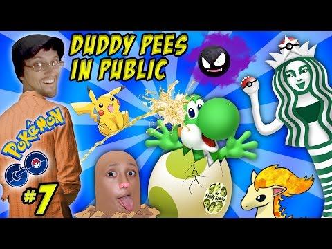 Pokemon Go Pee In Public Yoshi Egg Starbucks Trainer Pikachu