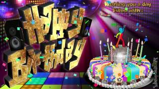 Disco Party Cake - HAPPY BIRTHDAY