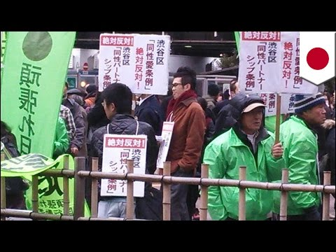 Anti-gay Marriage Parade: Protesters In Japan March Against Legalizing Gay Marriage video