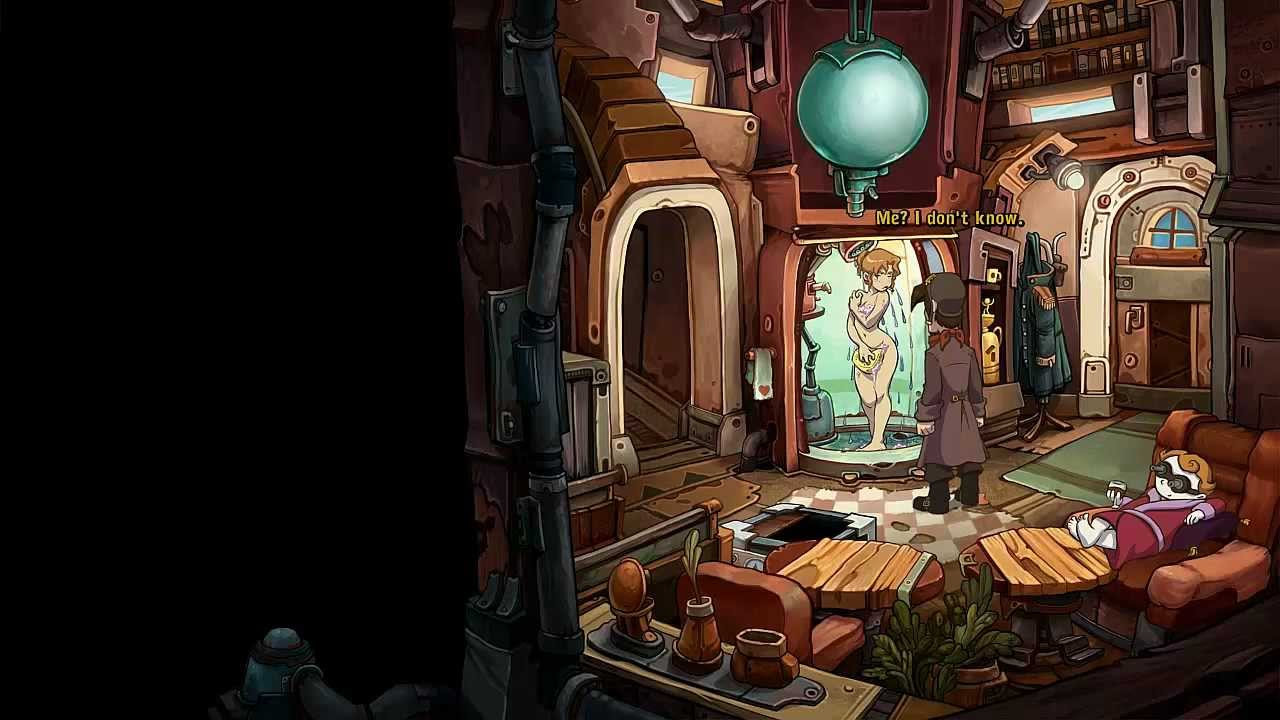 Lets Play Deponia 18 Naked Wet Toni