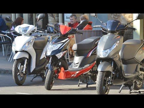 50cc Scooter Review - Peugeot Kisbee v Lexmoto Echo v Honda Vision