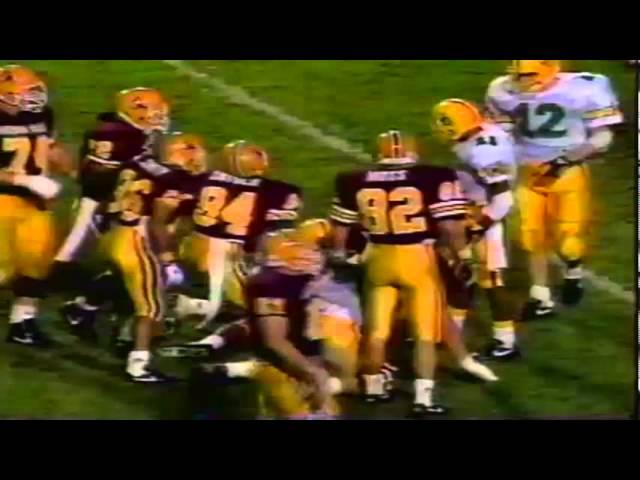 Oregon Cb Daryle Smith interception before halftime vs. ASU 11-09-1991