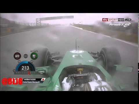 F1 2014 - China Qual - Kamui Kobayashi Onboard