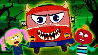 Wheels On the Bus HALLOWEEN | Scary Nursery Rhymes by Teehee Town