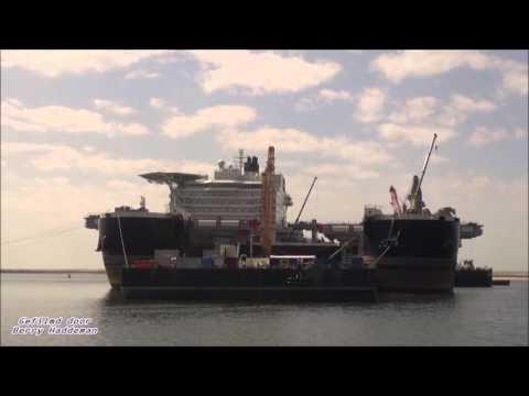 Netherlands: Pioneering Spirit (Pieter Schelte) Biggest crane ship, Rotterdam - Maasvlakte 2