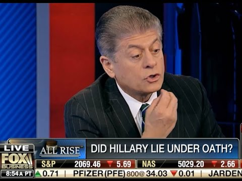 Hillary for Prison 2016 - Hillary Lied to Benghazi Committee - Judge Napolitano in HD