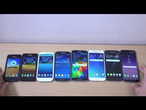 Samsung Galaxy S8 vs S7 vs S6 vs S5 vs S4 vs S3 vs S2 vs S1 - Speed Test!