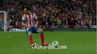 Cristiano  Ronaldo hit  Atletico  Madrid  player  Gabi  Real  Madrid  1-2 Atl  Madrid