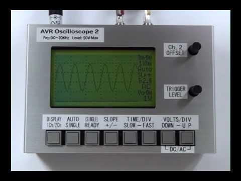 AVR LCD Oscilloscope  オシロスコープ 2