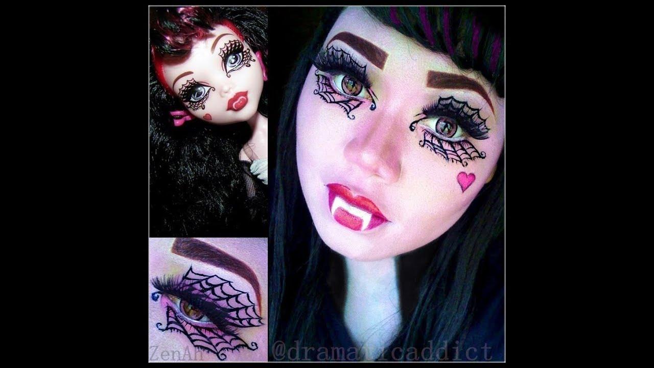 Monster High Doll Draculaura Makeup Tutorial Youtube