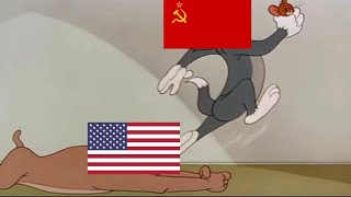 Cold War Portrayed by Tom & Jerry [updated: with flags]