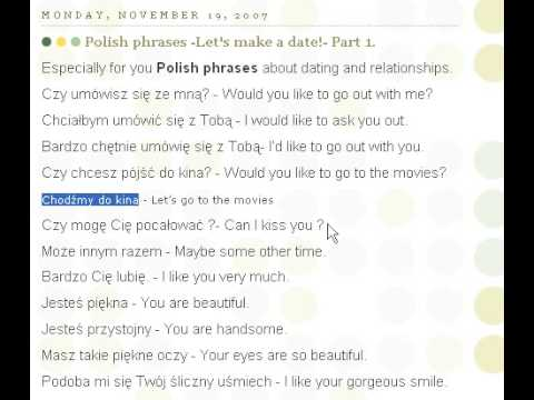 polish dating phrases What's another word for dating learn over 50 fantastic words to use instead of dating.