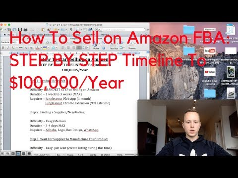 How To Start Selling on Amazon: STEP BY STEP TIMELINE for COMPLETE BEGINNERS To Get To $100,000/Year