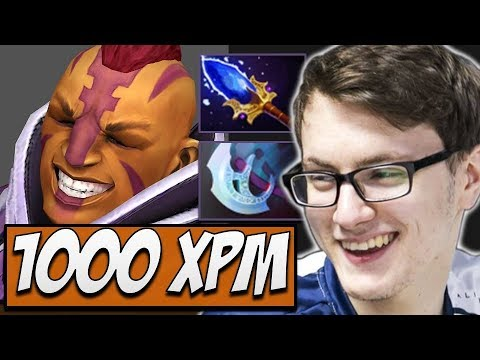 1000 XPM Antimage with RAMPAGE by Ahjit | Dota Gameplay