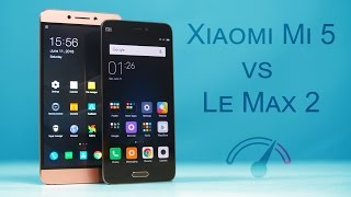 Xiaomi Mi 5 vs LeEco Le Max 2 Speedtest Comparison!