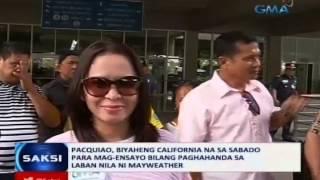 Saksi: Pacquiao, naipanalo pa ang Kia Carnival sa PBA bago bumiyaheng California sa Sabado