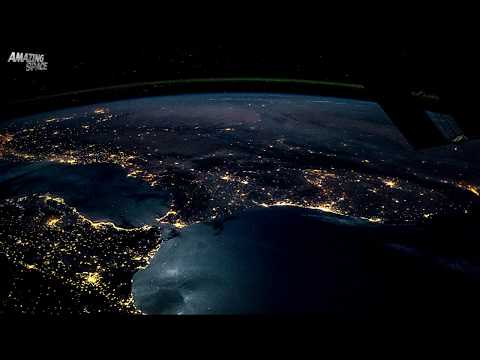 ISS Time-lapse video: From Spain to Poland