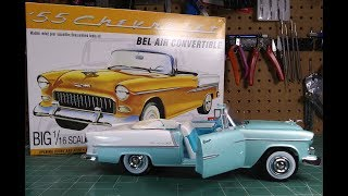 AMT 1/16 1955 Chevy Bel Air Convertible Scale Model Kit Build Review AMT1134