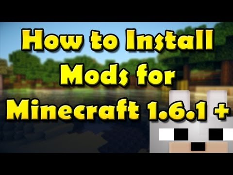 SCMowns - How to install Mods for Minecraft 1.6.1 -Modloader (Windows) (Mac Text