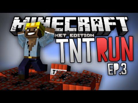 HEADLESS PLAYERS!?! - TNT Run Mini Game Ep. 3 - Minecraft PE (Pocket Edition)